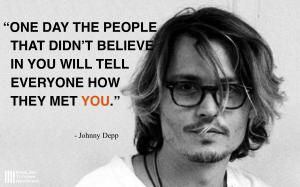 ジョニー・デップ英語名言
