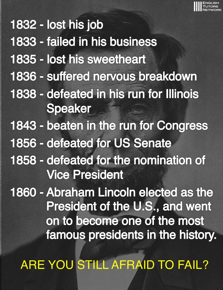 エイブラハム・リンカーン英語名言