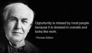 トーマス・エジソン英語名言